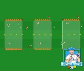 Voetbal oefeningen; Chaosdoelenspel