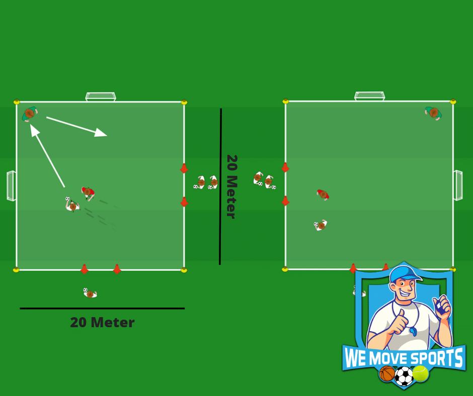 Voetbal oefening jo16